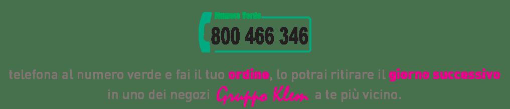 Effettua il tuo ordine telefonico
